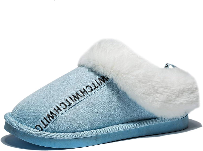 Anbenser Women's Cozy House Memory Foam Slipper Anti-Skid Rubber Sole Warm shoes Soft Plush Cotton for Colder Winter
