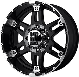 XD Series by KMC Wheels XD797 Spy Gloss Black Wheel With Machined Face (17x9