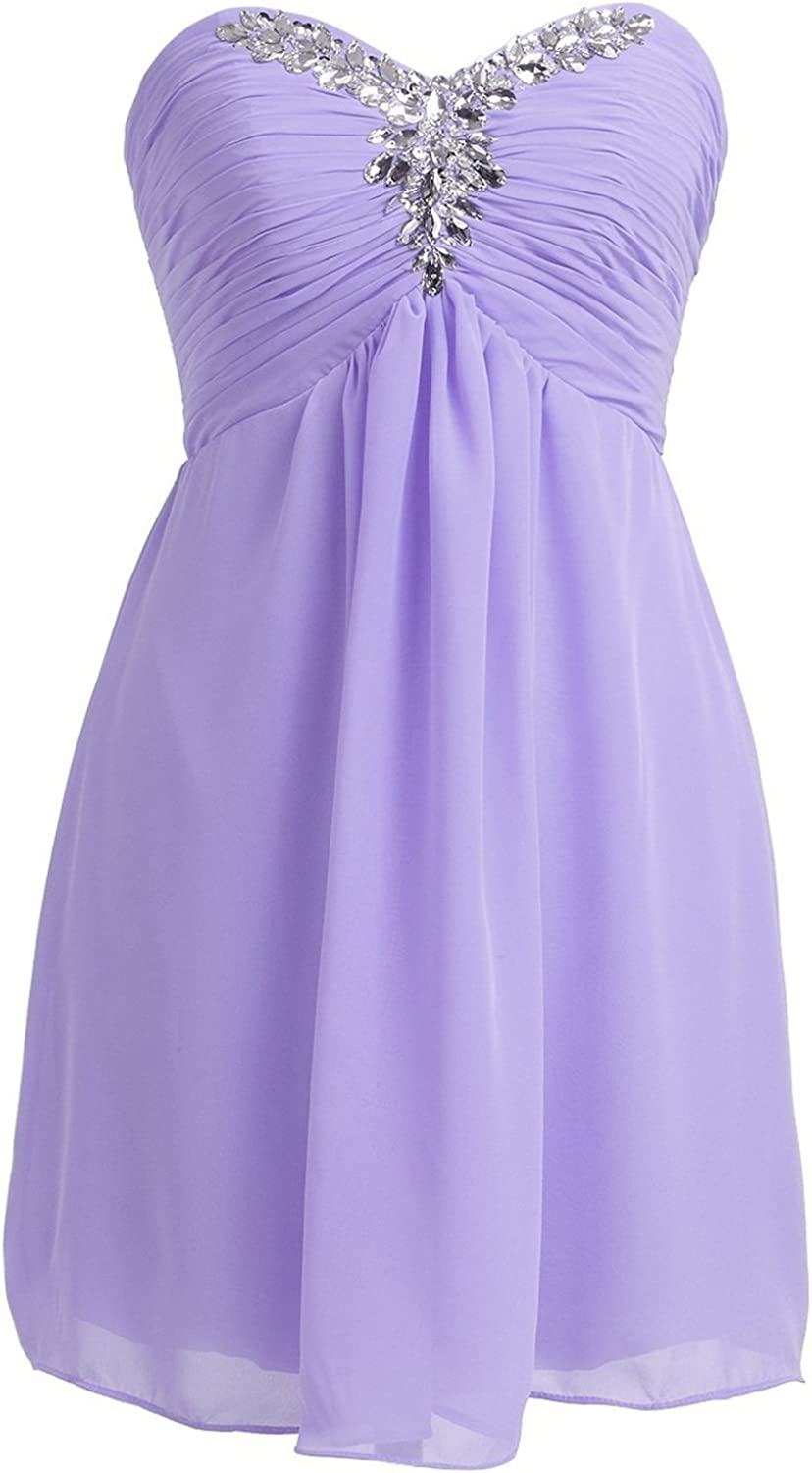 Dasior Strapless Short Bridesmaid Gown Prom Cocktail Party Dress