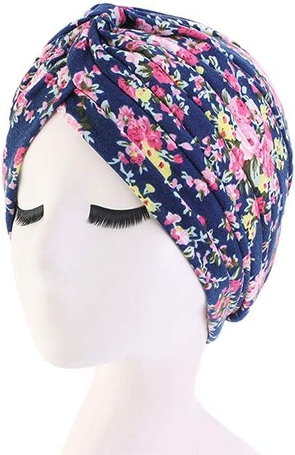 UK/_Stone Femmes 100/% Coton Cap Sleepyhead Musulman Headscarf Chemo Headgear Turban Beanie pour la perte de cheveux T/ête-R/échauffement Grossesse