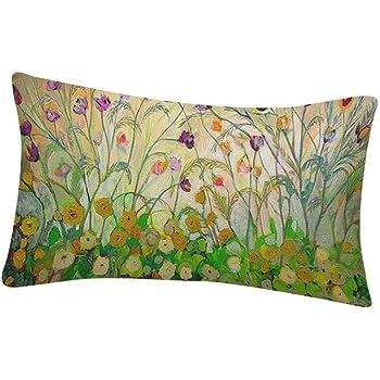 Fossrn Fundas Cojines 30 x 50 Vintage Flor Pájaro Hojas Fundas De Cojines para Sofa Jardin Cama Decoración del hogar Cuadrado Funda de Almohada (C): Amazon.es: Hogar