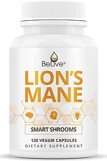 Lions Mane Mushroom Capsules with Reishi & Cordyceps - Immune Support, Focus, Mental Clarity (120 Veggie Pills)