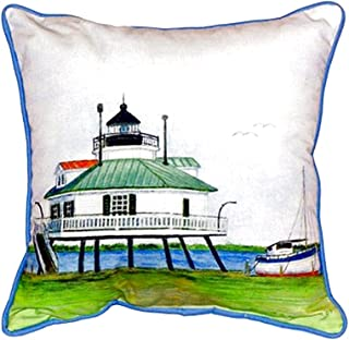 """Betsy Drake SN736 Hopper Strait Lighthouse Pillow, 11"""" x14"""""""