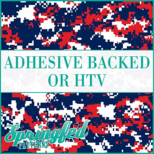 Digital CAMO Pattern in RED, NAVY BLUE & WHITE Urban Camouflage Heat Transfer or Adhesive Vinyl CHOOSE YOUR SIZE!
