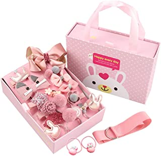 18pcs Girl exquisite headdress set gift box lovely hairpin headdress flower headwear for little girls