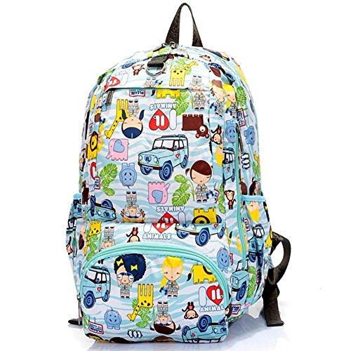 Sincere® Fashion Backpack / Zipper Sacs à dos / Rue mode / Multifonction / Mode schoolbag / loisirs sac à main / polyester sac imperméable à l'eau 8