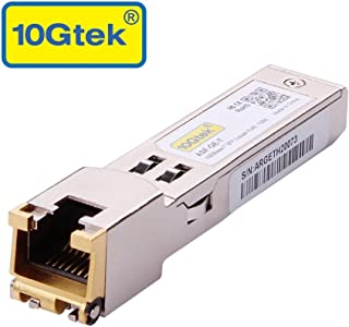 SFP to RJ45 Copper Module - 1000BASE-T Mini-GBIC Gigabit Transceiver for Cisco GLC-T/SFP-GE-T, Meraki MA-SFP-1GB-TX, Ubiquiti UF-RJ45-1G, D-Link, Supermicro, Netgear, TP-Link, Broadcom up to 100m