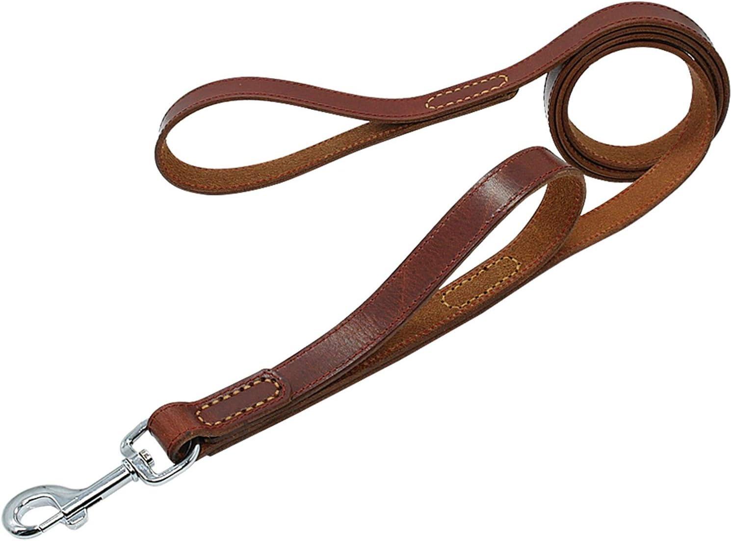 NYKK Primal Pet Max 45% OFF Dog Rope Spasm price Geniune Leather Leash