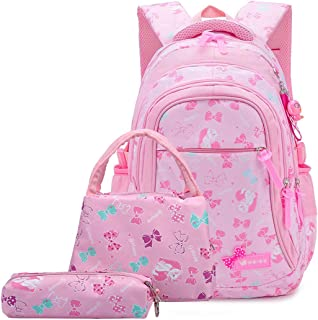 XHHWZB Schoolbags, Lightweight, Water-Repellent Backpack, Sweet Print, Three-Piece Suit