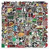 100 Unids/Set De Pegatinas De Graffiti De Estilo De Dibujos Animados Mexicanos para Ordenador Portátil, Equipaje, Bicicleta, Coche, Monopatín, Ordenador, Calcomanía Impermeable, Juguete
