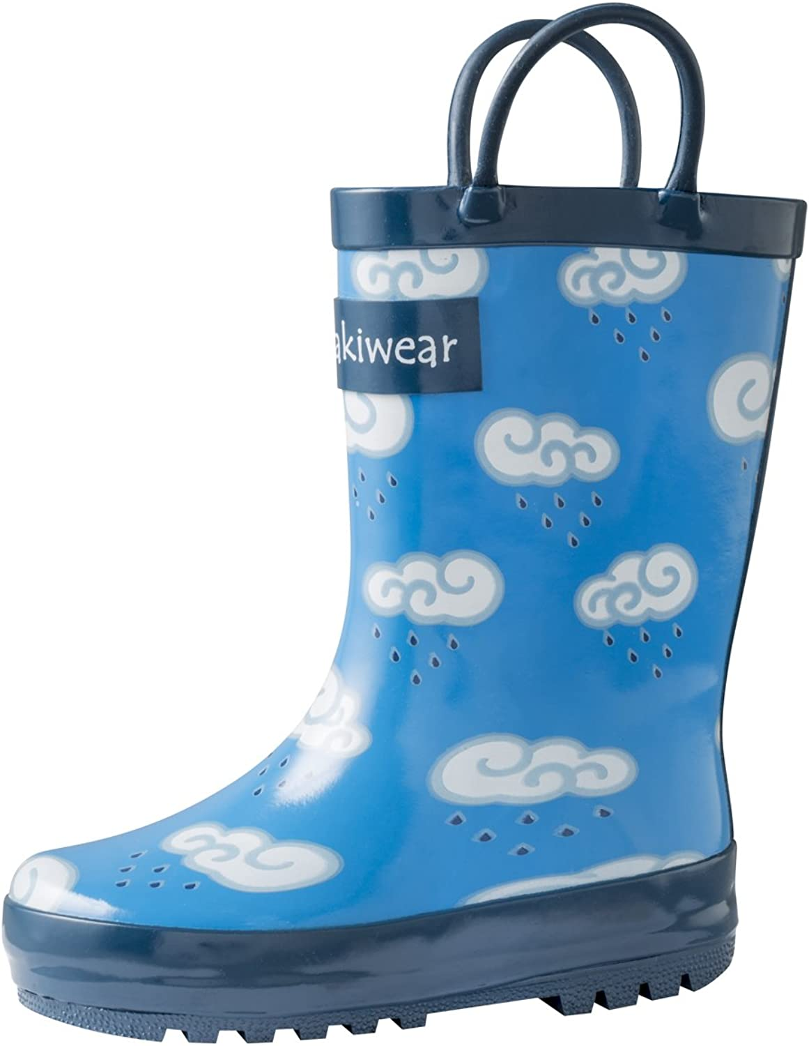 Oakiwear Girls Rubber Rain Boots (Little Kid Big Kid) w Easy-On Handles