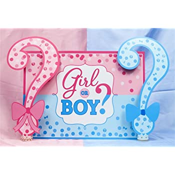 Amazon Com Aofoto 7x5ft Boy Or Girl Baby Reveal Backdrop Pink Blue Dots Question Mark Background Baby Shower Party Cake Dessert Table Decorations Prince Or Princess Gender Reveal Oh Baby Photo Shoot