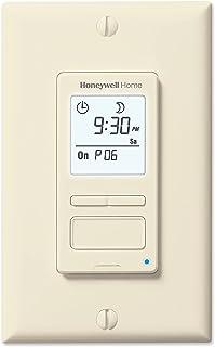 Honeywell Home RPLS541A1001 RPLS541A 7-Day Programmable Switch Timer, Light Almond