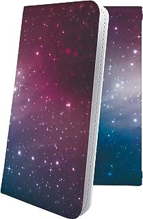 AQUOS Compact SH-02H ケース 手帳型 オーロラ 天の川 星 星柄 星空 宇宙 夜空 星型 アクオス コンパクト 手帳型ケース おしゃれ SH02H AQUOSCompact かっこいい