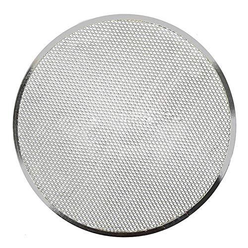 JJSCHMRC Pantalla de aluminio para pizza, antiadherente sin costuras Ronda de la Pizzería Accesorios para hornear Pizza Screen Crisper Tray Pizza Maker Bandeja para hornear
