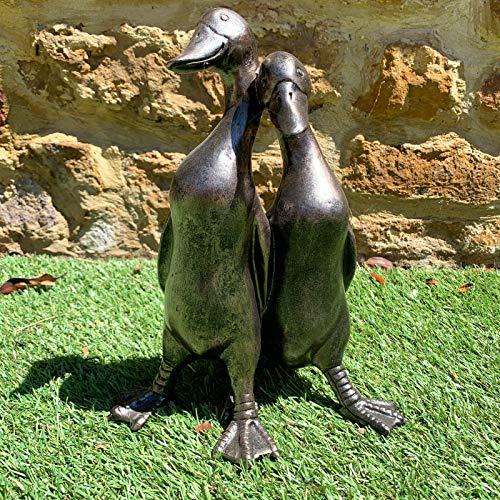Vintage Duck Garden Statue Sculpture Pair Of Love Ducks Decorative Ornament