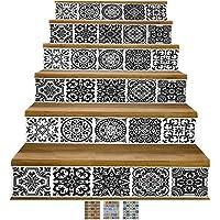 Y-Step Vinilos adhesivos para la pared, DIY, autoadhesivos, resistentes al agua, 6 unidades de 18 x 102 cm