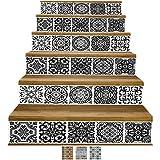 Y-Step Adesivi decorativi per scale, in vinile, impermeabili, ideali per un rinnovamento fai-da-te, impermeabile, 6pezzi da 18x 100cm circa, Stile 2