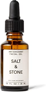 Salt & Stone - Antioxidant Facial Oil - 0.9 fl oz - Natural, Hydrating, Lightweight, Nourishing, Rosehip Seed Oil, Sweet A...