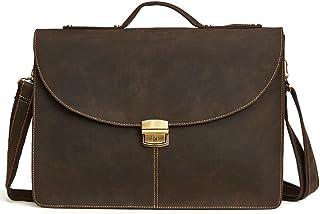 Men's Accessories Men Business Briefcase Tote Bag Shoulder Casual Handbag for 15 Inch Tablet/Ultra-Book Outdoor Recreation (Color : Coffee Color)