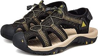 Sunny&Baby Sandalias al aire libre para hombres Zapatos de playa de verano transpirables Cerrado, con gancho y lazo Correa...