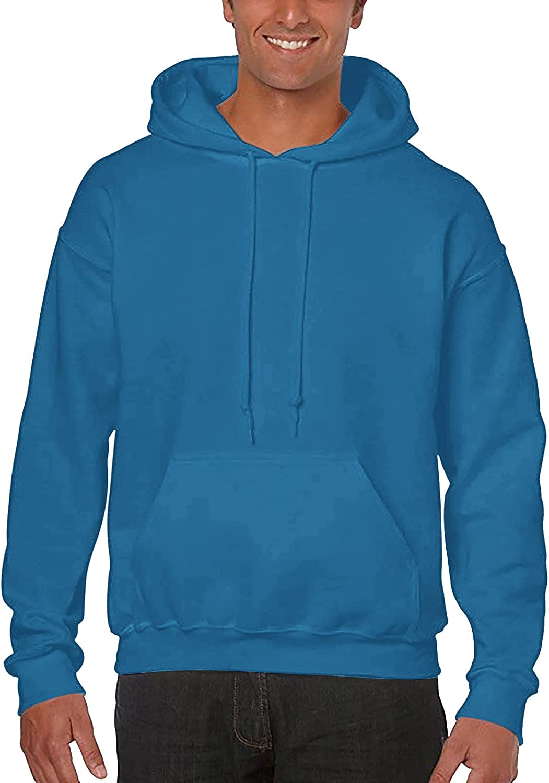 raillery Mens Casual Slim Fit Long Sleeve Hoodie Retro Lightweight Basic Designed Sweatshirt Outwear