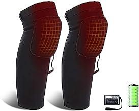 Elektrische verwarming verwarmde knie kussens katoen outdoor sport elektrische verwarming knie pads lange beenkappen ademe...