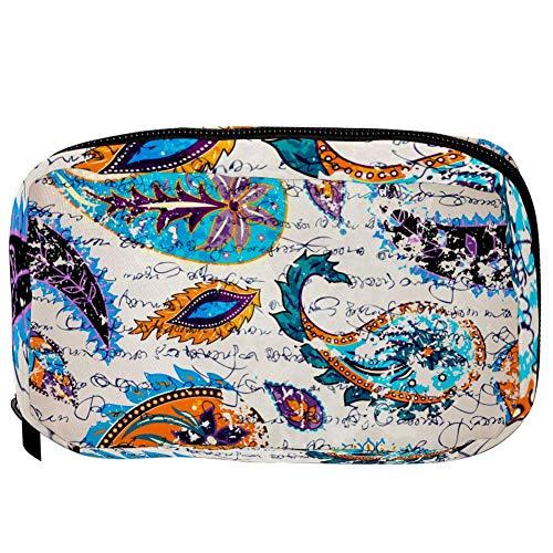 TIZORAX cosmeticatasjes, moderne abstracte afbeeldingen, handige toiletartikelen, reistas, organizer, make-up-tas voor vrouwen en meisjes 16×6.3×9cm Patroon 8