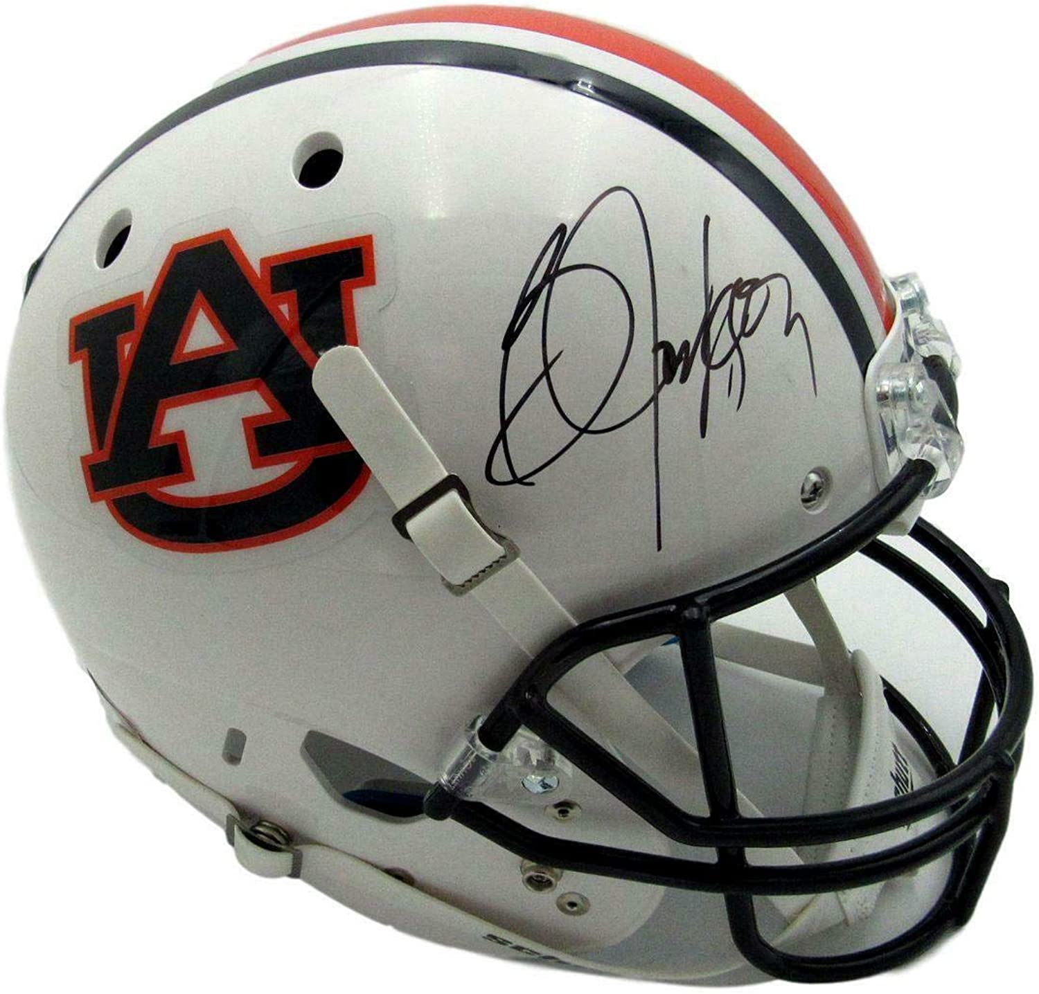 Bo Jackson Signed Auburn Full Size White Replica Schutt Helmet Beckett 143213  Beckett Authentication