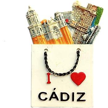 Weekino Cádiz España Imán de Nevera 3D Resina de la Ciudad de ...
