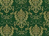 Dekostoff Vorhangstoff Jacquard Ornamente grün