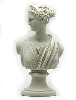 Diosa Griega o Romana Artemis Diana–Busto Cabeza Estatua Escultura de alabastro 8.46? ?