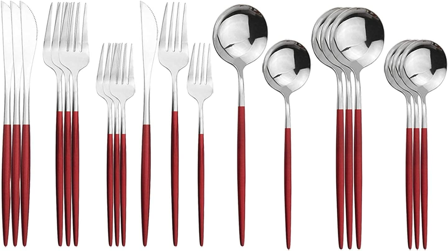 Ranking TOP3 Silverware New Shipping Free Shipping Set Wedding Silverwa 20-Piece Tableware