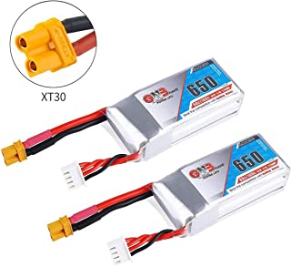 2PCS GAONENG 650mAh LiPo Battery 3S 11.1V 80C XT30 Plug Connector Rechargeable Battery for FPV Racing Drone RC Quadcopter