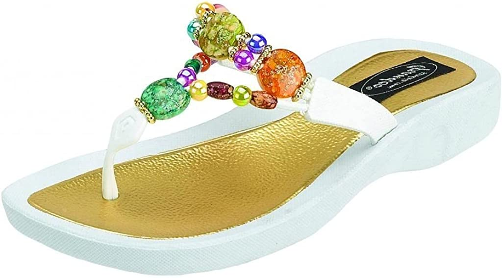 Grandco Women's 24768G NEW before selling ☆ National uniform free shipping Marble Deluxe Beaded Sole Waterproof Beac