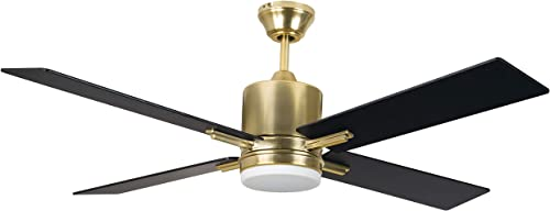 new arrival Craftmade Lighting TEA52SB4 Teana - 2021 52 Inch Ceiling Fan with Light Kit, Control Option: online sale Wall Mounted Control sale