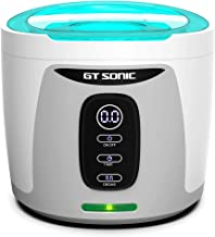 GTSONIC Ultrasonic Cleaner Jewelry Glasses Dentures Professional Detachable Cleaning Machine, 4 Timer Cycles Auto-Off, 26 OZ, 35 W