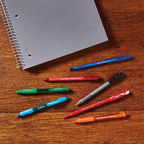 Paper Mate Flexgrip Ultra Retractable Ballpoint Pens | Medium Point (1.0mm) | Red | 12 Count