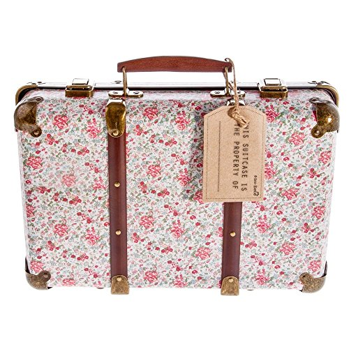 Vintage Sass and Belle con Maleta antigua con Estampado de Flores