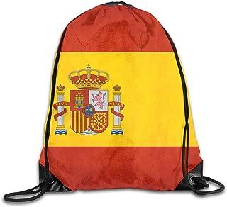 htrewtregregre Retro Spain Flag Sport Mochilas con cordón Travel Daypack Saco Graphic Gym Bolso For Men Women