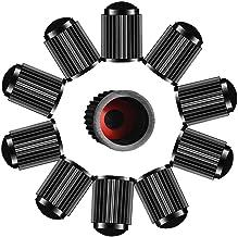 Lot de 10 bouchons de valve de pneu en plastique pour SUV, moto, camion, vélo, noir