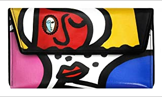 Cubist Faces Clutch by Kent Stetson