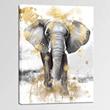 Modern Picture Print on canvas Wildlife the Elephant 30 shapes it 3484
