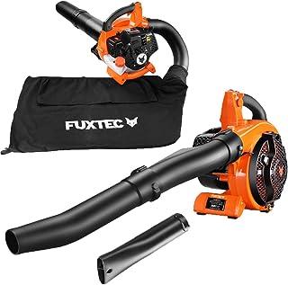 FUXTEC Benzine Bladblazer / Bladzuiger - 4in1 - blaas-zuig-versnipper-functie en opvangzak, 26cc, 0,7kW, 2-takt motor, inc...