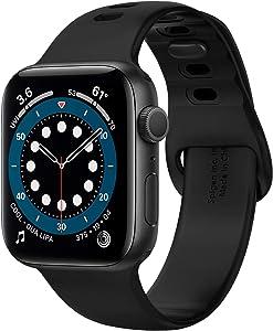Spigen Silicone Fit Designed For Apple Watch Band for 44mm/42mm Series 6/SE/5/4/3/2/1 - Black