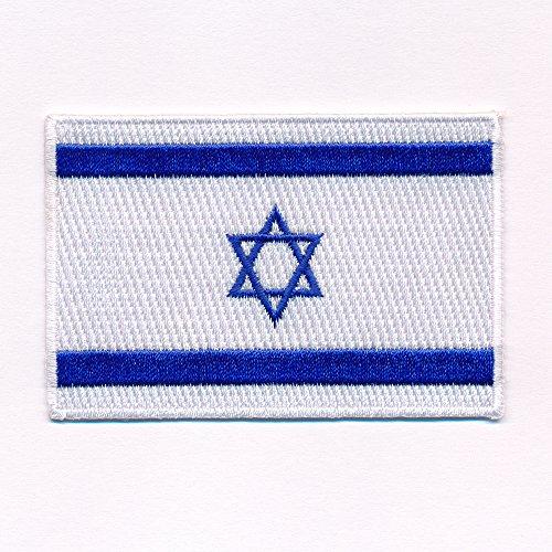 hegibaer 60 x 35 mm Israel Jerusalem Juden Flag Flagge Patch Aufnäher Aufbügler 0634 B
