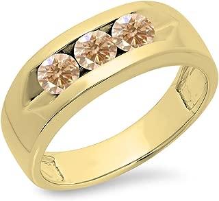 three diamond wedding band