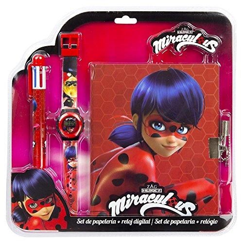 Ladybug Set Reloj con Bolígrafo y Diario (Kids LB17060)