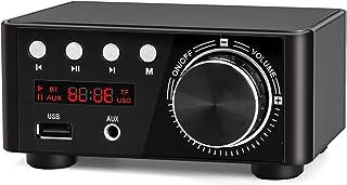 Facmogu Black Mini Bluetooth Power Amplifier, 100W BT 5.0 Digital Power Audio Amplifier - Wireless Receiver Stereo Home Ca...