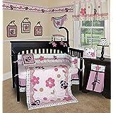 SISI Baby Girl Boutique - Ladybug 13 PCS Crib Bedding by Sisi